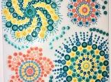 Swirls Hand-painted Mandala Tile