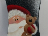 Tin Santa & Bear Mini Pail Ornament