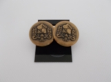 Vintage 1970's button earrings military style