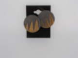 Vintage art deco style button earrings metal