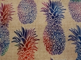 Wide Kool Breezy Neck Wrap - Bright Pineapples Tan background