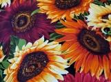 Wide Kool Breezy Neck Wrap - Bright Sunflowers