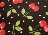 Wide Kool Breezy Neck Wrap - Cherry w/black background