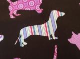 Wide Kool Breezy Neck Wrap - Dogs w/black background