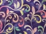 Wide Kool Breezy Neck Wrap - Purple/blue Swirls