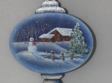 Winter Barn Key Ornament