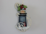 Winter Lighthouse Ornament (Blue)