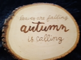 Autumn Phrase on Wood