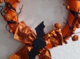 Bat & Pumpkin Halloween Wreath