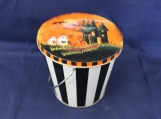 Haunted House with Pumpkins Halloween Mini-Pail