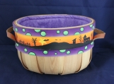Haunted scene Lined Candy Basket