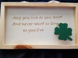 Irish Phrase on Wood