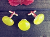 Lemon Drop Cufflinks and Tie Pin