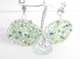 Confetti  Lime Clip On Earrings