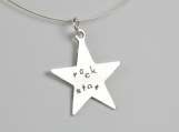 Rock Star Sterling Silver Necklace