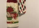 Christmas Kitchen Tea Towel Topper (poinsettia with coffee)