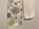 Christmas Kitchen Tea Towel Topper (snowflakes)