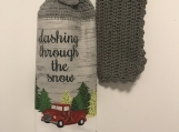 Christmas Kitchen Towel Topper (dashing threw the snow)