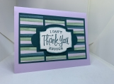 Handmade Thank You Card (simple, pastel)