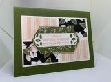 Handmade Thank You Card (feminine, soft floral)