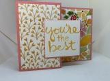 Handmade Thank You Card (fun fold)