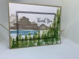 Handmade Thank You Card (Outdoorsy, Masculine)