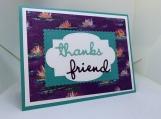Handmade Thank You Card (soft floral, friend)