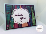 Handmade Thinking of You Card (miss you)