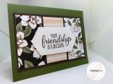 Handmade Thinking of You Card (soft floral, feminine)