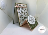 Handmade Thinking of You Card (soft floral, fun fold)