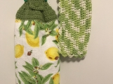Kitchen Tea Towel Topper (lemon and lime green)
