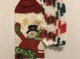 Christmas Kitchen Tea Towel Topper (Snowman)