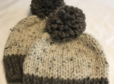Like Mother Like Child Beanie Set - Brown