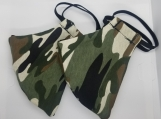 2 Pack Green camoflauge  facemasks