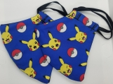 2 Pack- Pikachu & Pokeball Print handmade facemasks