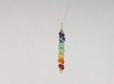 7 Chakra Beads Pendant Chain Necklace for Women / Yoga Reiki Healing Balancing Jewelry - 4 mm Beads