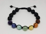 7 Chakras Bracelet - Healing Jewelry - 10 mm beads - Adjustable Length 8-10 inches