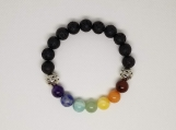 7 Chakras Bracelet - Healing Jewelry - Reiki - Yoga - Energy - Balancing - 10 mm beads - Stretchy Cord