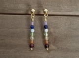 7 Chakras Earrings - Healing Jewelry - Reiki - Yoga - Balancing - Stainless Steel