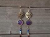7 Chakras Earrings - Healing Jewelry - Reiki - Yoga - Balancing - Stainless Steel - Golden