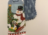 Christmas Kitchen Tea Towel Topper (snowman/penguin