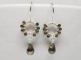 Earrings - Pyrite Gemstones - Sterling Silver - Handmade