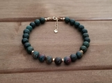 Healing Bracelet - Bloodstone - Abundance - Alignment - Organisation - Good Fortune - Purification - 6 mm beads - 7-8 inches