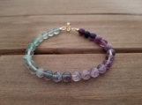 Healing Bracelet - Fluorite - Gold Filled - 7.5-8.5 inches - 6mm beads