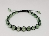Healing Bracelet - Fluorite - Truth - Protection - Intellect - Adjustable Length 7.5-9.5 inches - 6 mm beads