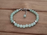 Healing Bracelet - Green Aventurine - Heart Chakra - Good Luck - Stainless Steel - Adjustable Length 7-9 inches - 6 mm beads