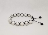 Healing Bracelet - Howlite - Inspitation - Creativity - Artistic expression - 10 mm beads - Adjustable length 8-10 inches