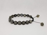 Healing Bracelet - Labradorite - Transformation - Strengthens our will - Calming - Adjustable Length 7-9 inches - 8 mm beads