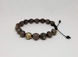 Healing Bracelet - Leopard Skin Jasper - Adjustable Length 7-9 inches - 8 mm beads