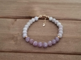 Healing Bracelet - Lilac - Stress relief - Calming - Gold filled - 6.5 - 7.5 inches - 6 mm beads